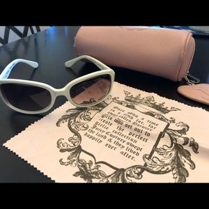 White Juicy Couture Sunglasses with Case